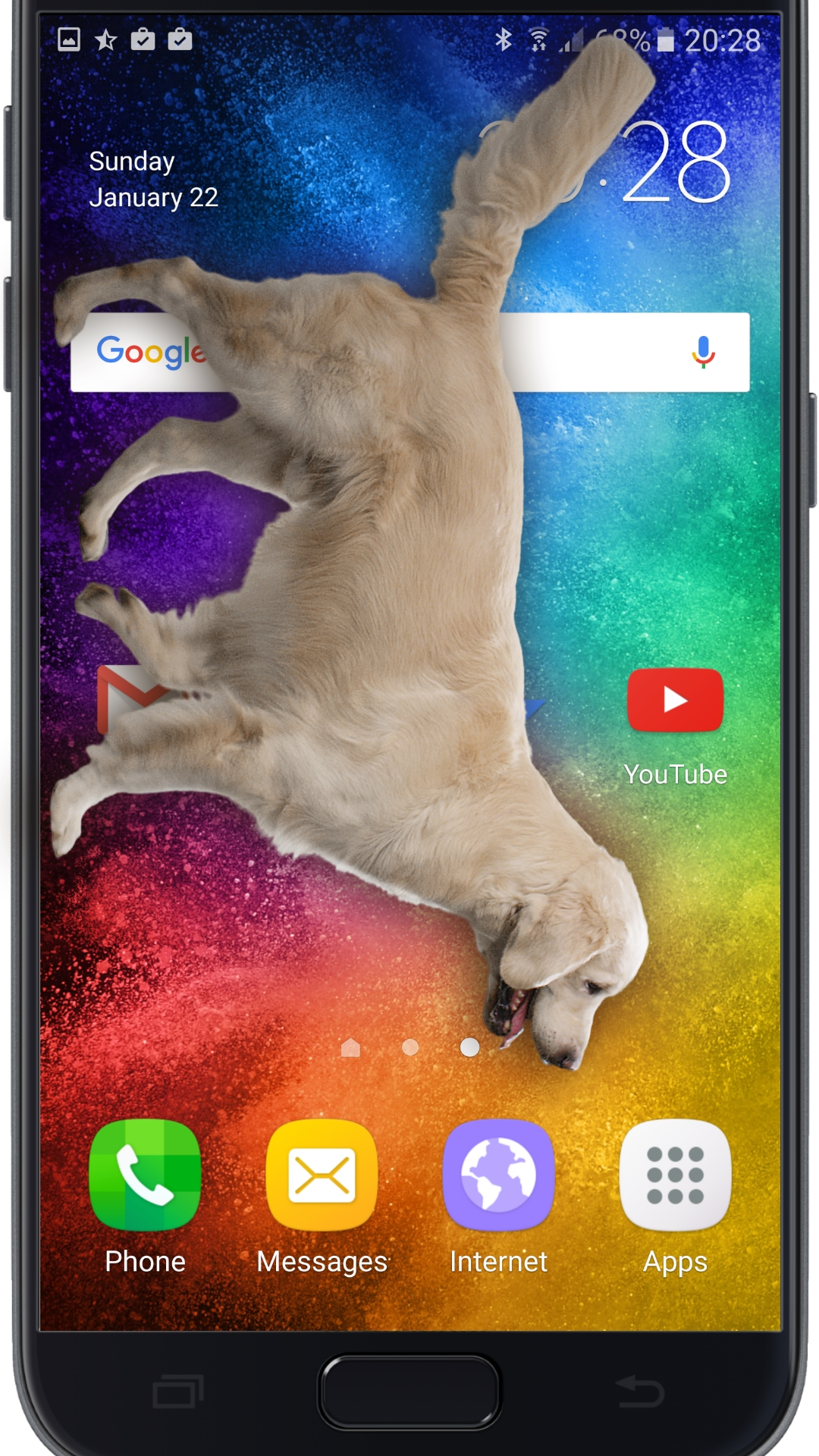 Amazon Com Dog On Screen Woof Woof Joke Appstore For Android
