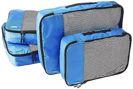 fbae060b5 AmazonBasics - Bolsas de equipaje (2 medianas, 2 grandes; 4 unidades ...