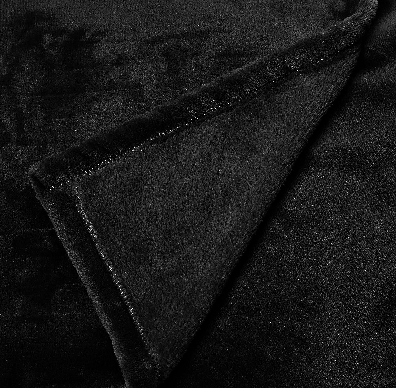 170 x 200/cm Basics Couverture polaire avec manches et poche pour les pieds Marron