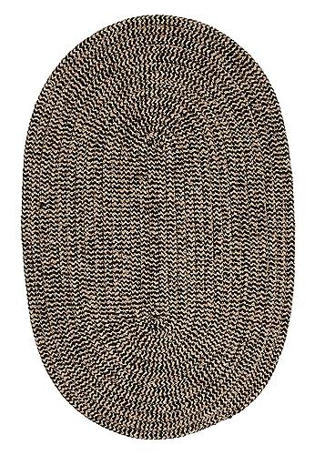 Softex Check Rug, 4 by 6-Feet, Black Check