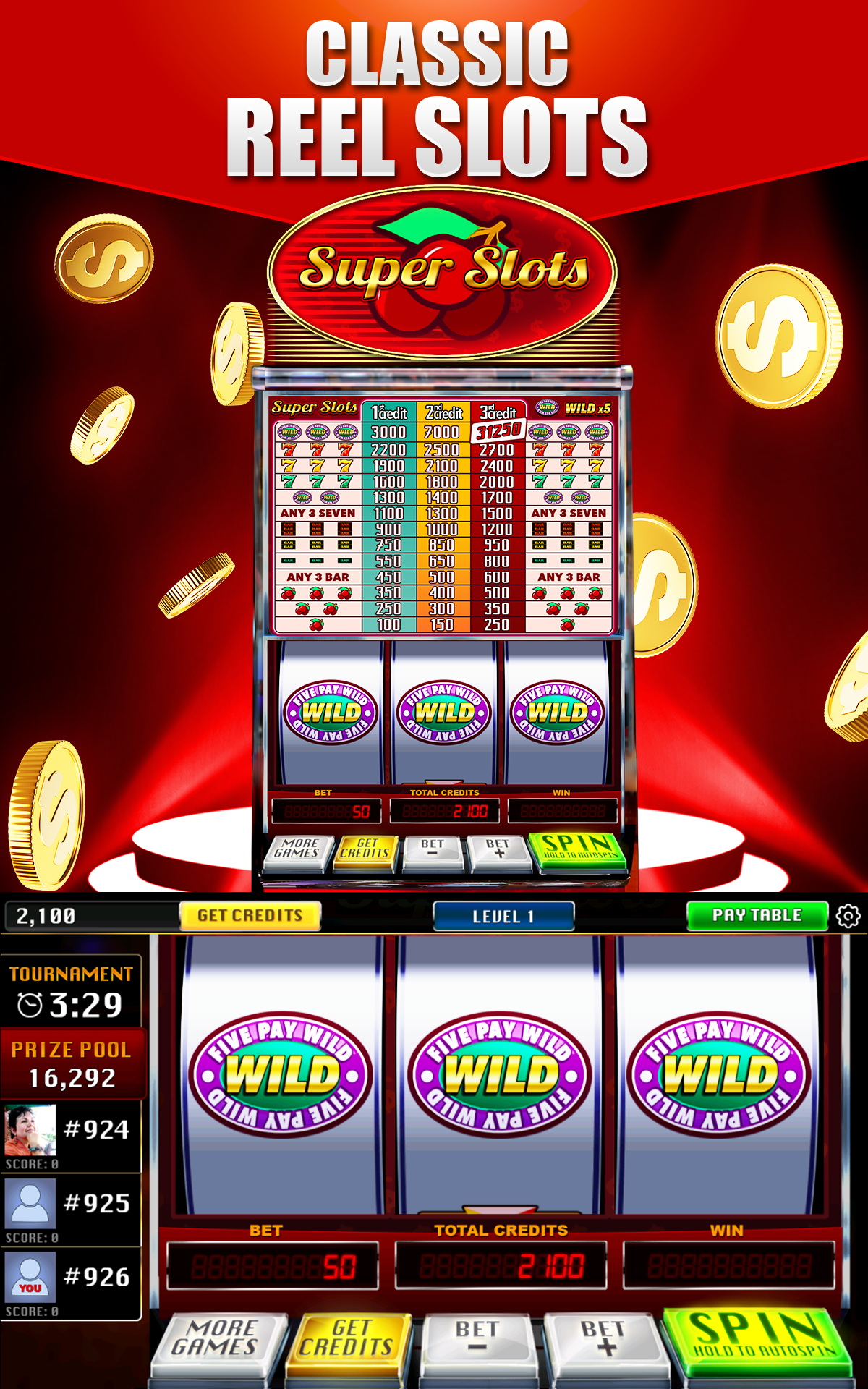 Free casino slot tournaments