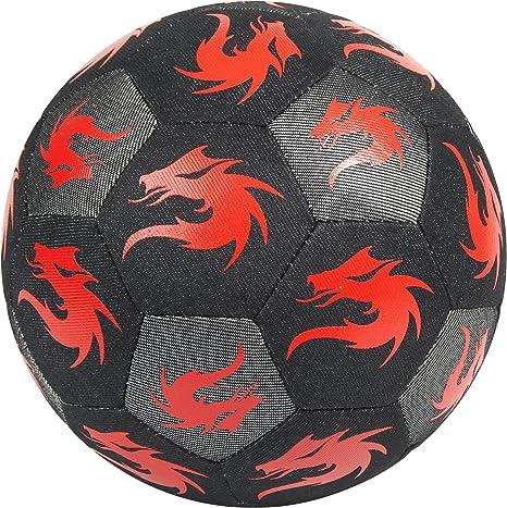 Monta, 5, 5210145131 - Balón de fútbol, Color Negro y Rojo: Amazon ...