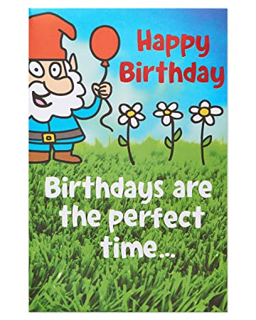Amazon American Greetings Funny Gnome Birthday Card With Foil