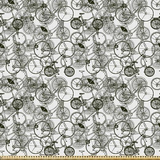 ABAKUHAUS Incompleto Tela por Metro, Bicicleta Retro Vintage ...