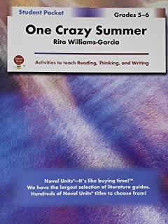 One crazy summer teacher guide by novel units inc novel units one crazy summer student packet by novel units inc fandeluxe Gallery