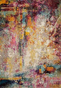 """Loloi II Nadia Collection Vintage Distressed Abstract Area Rug 2'-2"""" x 6'-0"""" Runner Multi"""