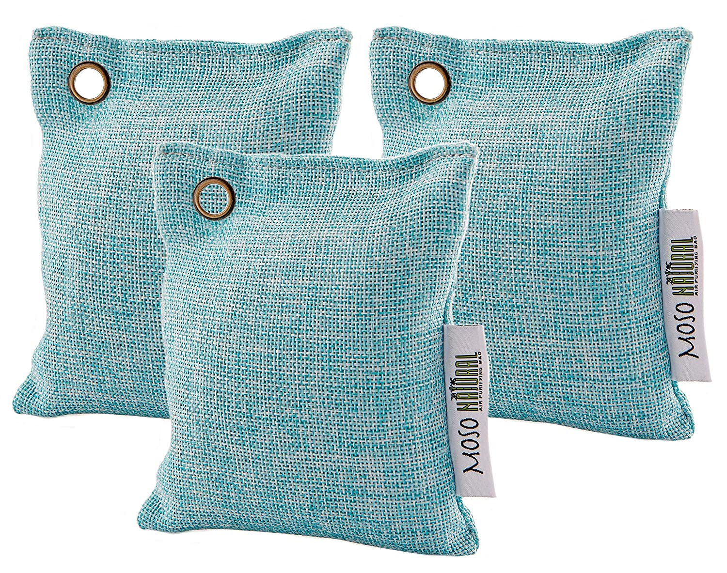 3 pack Moso Natural Air Purifying Bag Deodorizers. Refrigerator Odor Eliminator Absorbs and Removes Fridge and Freezer Odors SYNCHKG069701