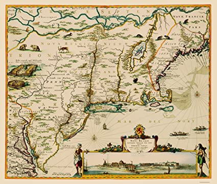 Amazoncom Old State Map Us East Coast Chesapeake Bay To Maine - Old-us-27-map