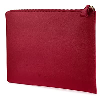 401d7339b HP Spectre 13-inch Laptop Leather Sleeve (Red with Copper-finished Hardware)