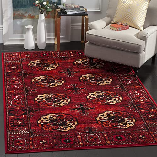 Safavieh Vintage Hamadan Collection VTH212A Antiqued Oriental Red and Multi Area Rug 8 x 10