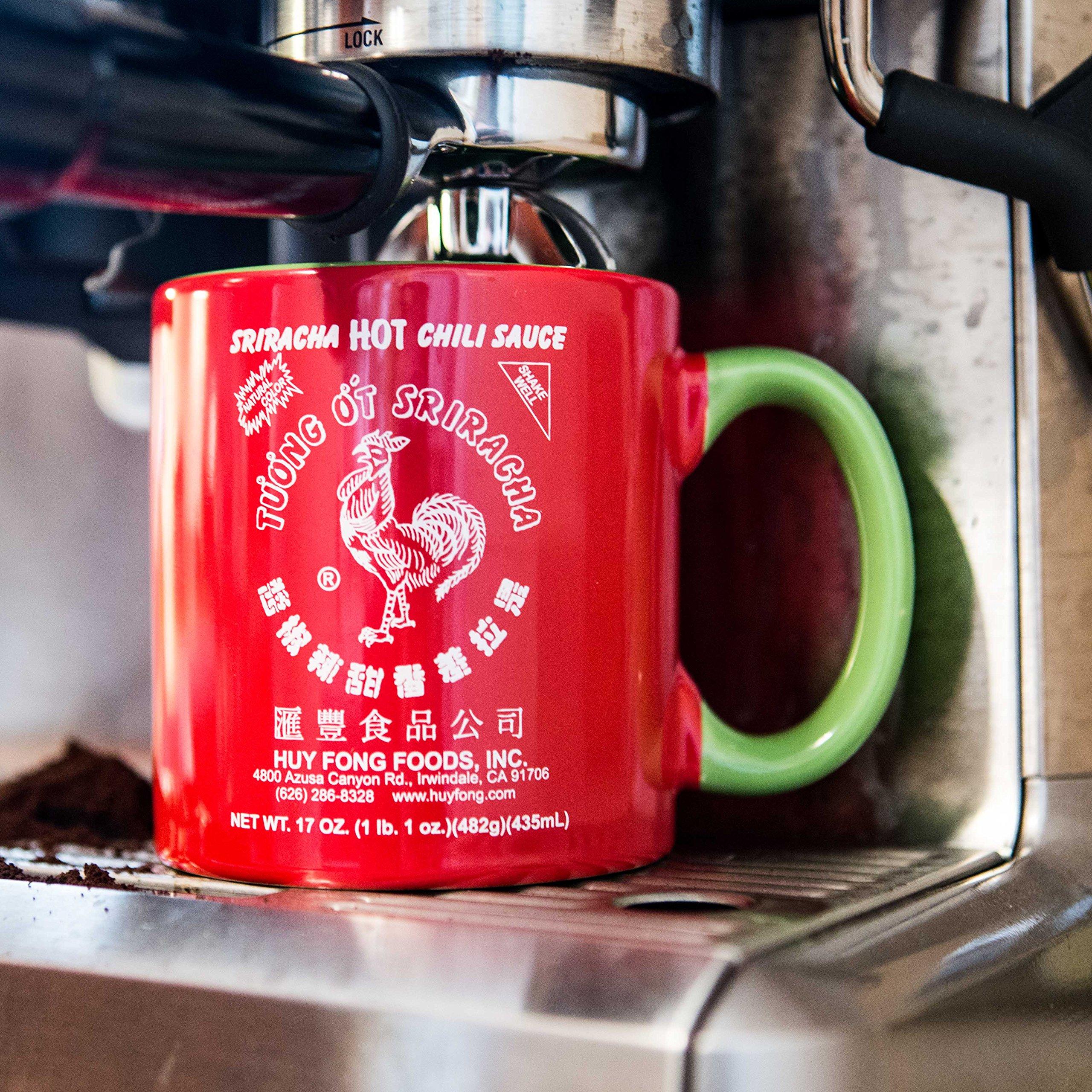 Large 20 oz Sriracha Hot Sauce Red And Green Ceramic Mug by Sriracha2Go (Image #2)