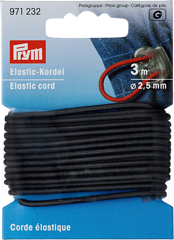 3 m /Ø Colore: Grigio 60/% ED 40/% PES Prym Cordoncino Elastico 2,5 mm