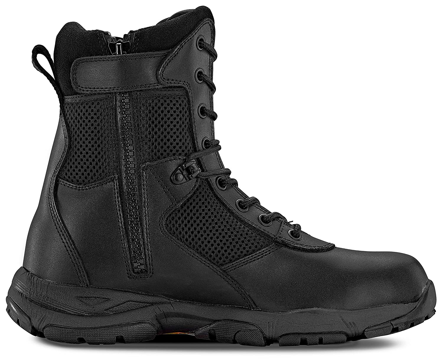 Maelstrom Men's LANDSHIP 8 Inch Military Tactical Duty Work Boot with Zipper Maelstrom Footwear LANDSHIP 8'' ZIPPER-M