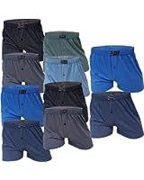 10 Stück Herren-Boxershort Unterhose Δ Unterhosen-Boxershorts-Herren-Unterwäsche-Baumwolle-100-% Δ Retroboxershorts mit Eingriff Δ Spar-Pack von SGS