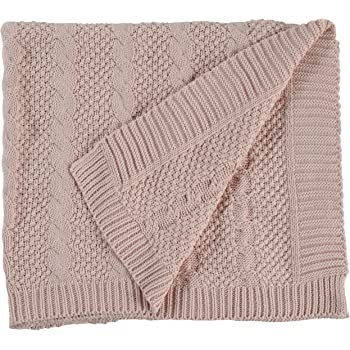 Amazon 100 All Cotton Knit Throw For Sofa Classic Cable