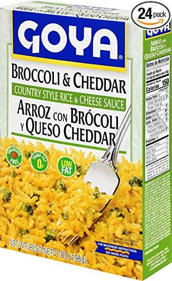 Goya Foods Brocooli and Cheese Rice Mix, 8-Ounce (Pack of 24)
