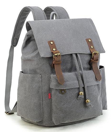 Image Unavailable. Image not available for. Color  Crest Design Vintage  Canvas Laptop Backpack School Bag Hiking Travel Rucksack ... a376d8b06b