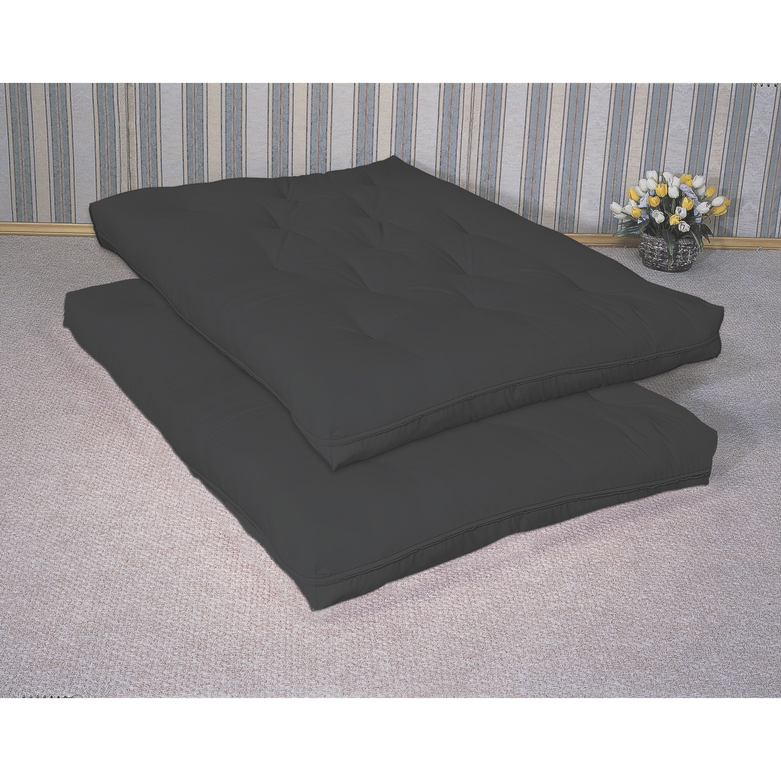 Deluxe Futon Pad Black by Coaster Home Furnishings