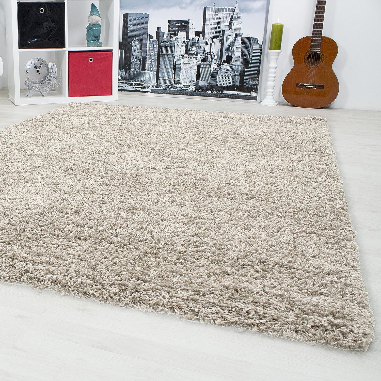 Ordinaire Hochflor Shaggy Teppich Langflor Carpet Wohnzimmer Einfarbig Rechteck /  Rund Teppiche, Maße:160x230 Cm, Farbe:Beige: Amazon.de: Küche U0026 Haushalt