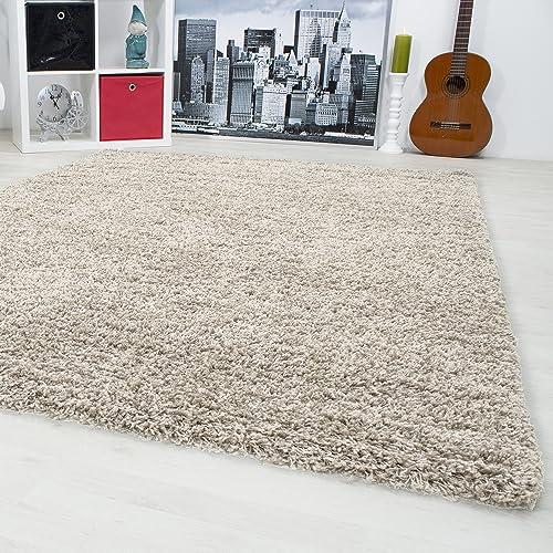 Carpetsale24 Hochflor Shaggy Teppich Für Wohnzimmer Langflor Pflegeleicht  Schadsstof Geprüft 3 Cm Florhöhe Oeko Tex Standarts