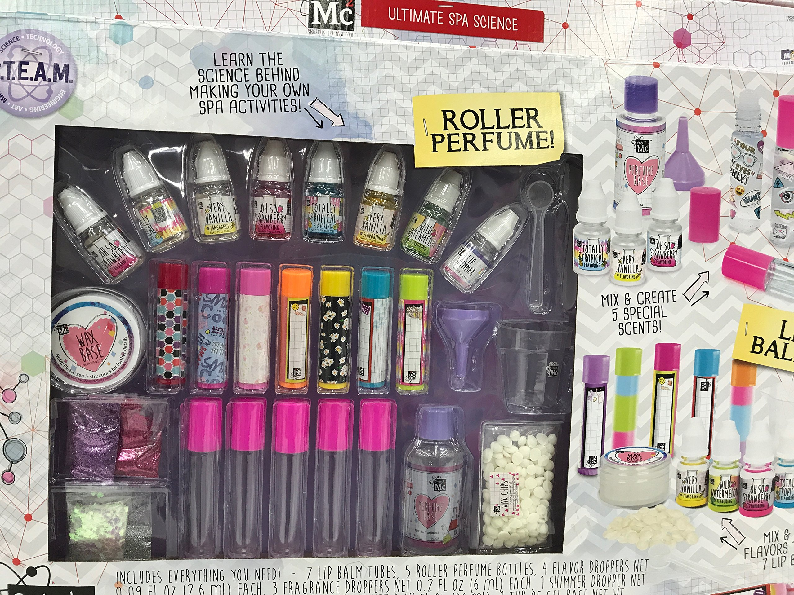 Project MC2 Ultimate Spa Science Lab Includes Lip Balms and Roller Perfume