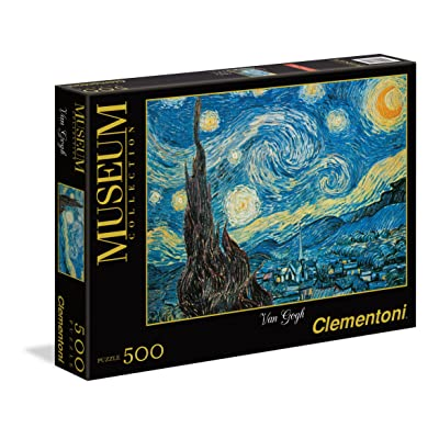 Clementoni Starry Night 500 Piece Vincent Van Gogh Jigsaw Puzzle: Toys & Games