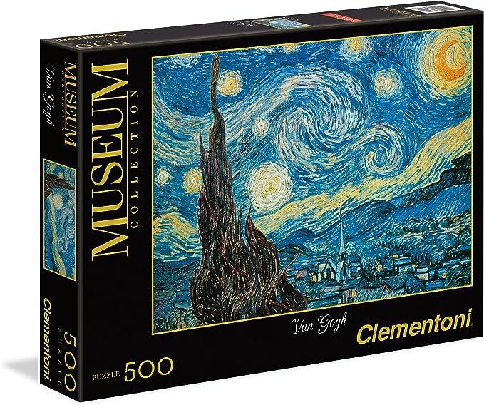 Clementoni - Puzzle 500 Piezas Noche Estrellada Van Gogh (30314.4 ...