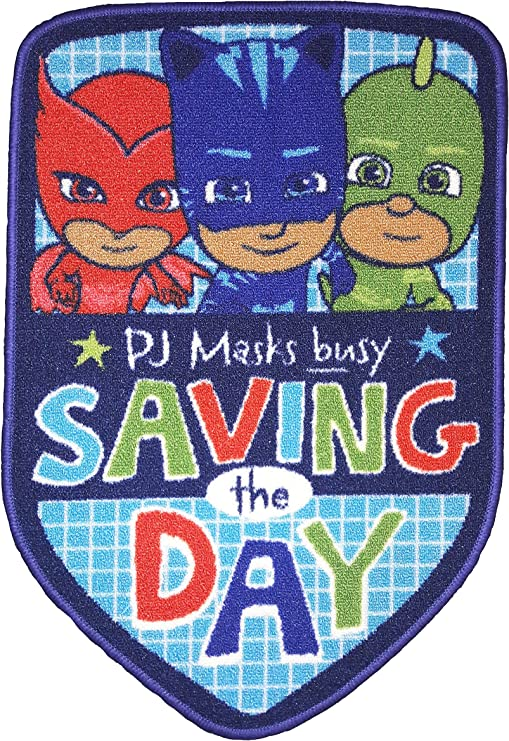 PJ Masks Save The Day Alfombra de Poliamida, Multicolor, 80 x 53 x 1 cm