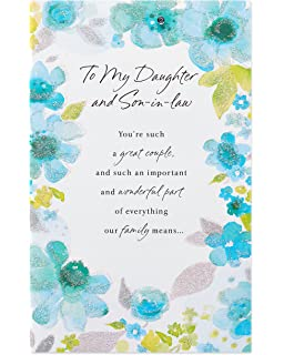 Amazoncom Anniversary Gift For Daughter And Son In Law Poem Card