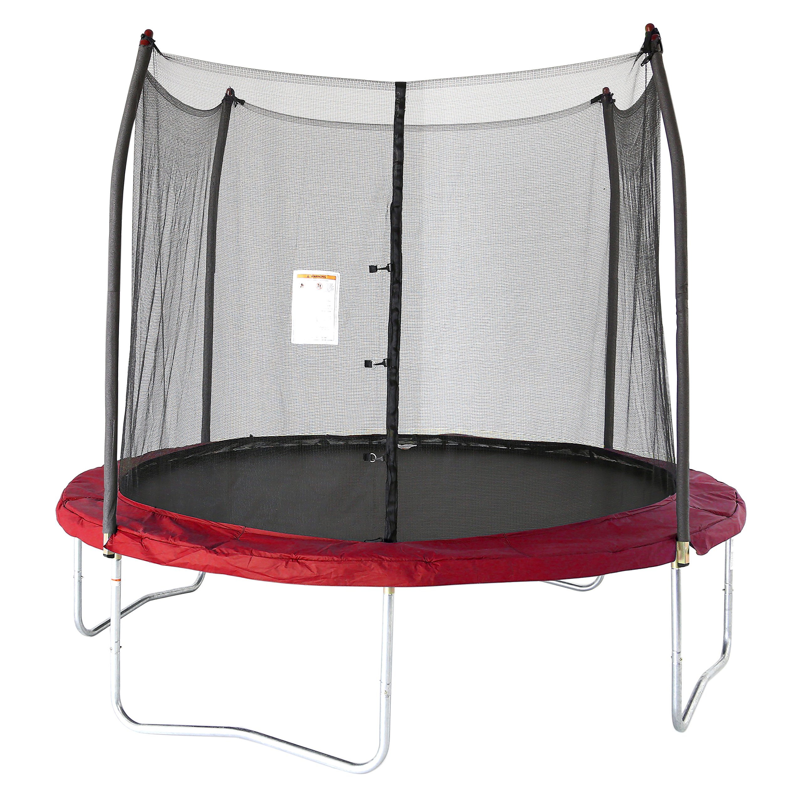 Skywalker Trampolines 10 -Foot Round Trampoline and Enclosure with spring, Red