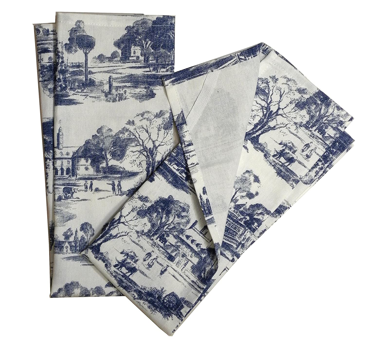toile french country dish towel set of 2 black home