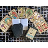 Vieux Monde Express Samiramay Tarot Deck & Guide Booklet, Full Deck, 78 Cards, 3.5 by 2.5 inches, Great for Beginners and Col