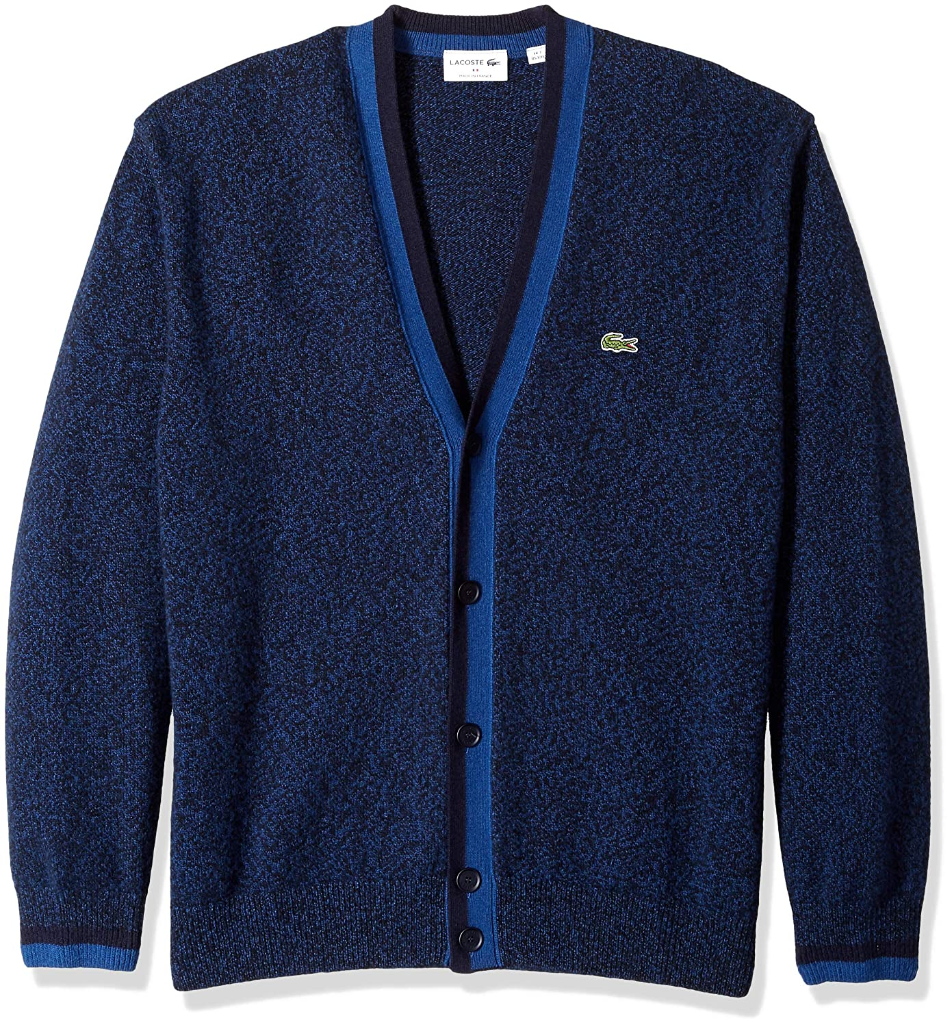 c0581ac4 Lacoste Men's Long Sleeve Made in France Wool Cardigan