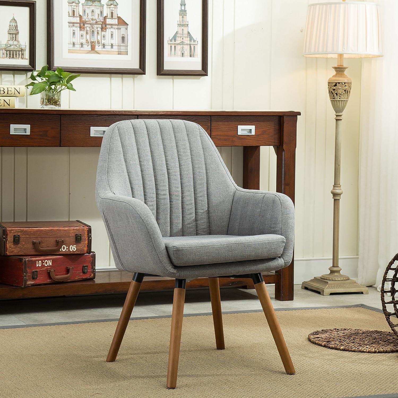 Astounding Roundhill Furniture Tuchico Contemporary Fabric Accent Chair Gray Andrewgaddart Wooden Chair Designs For Living Room Andrewgaddartcom