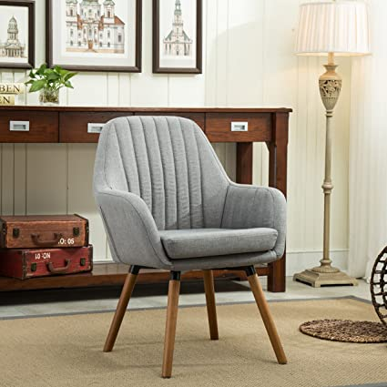 Amozon Accent Chairs.Roundhill Furniture Ac151gy Tuchico Contemporary Fabric Accent Chair Gray