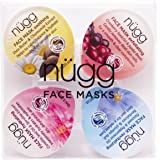 nügg Face Mask Pallete for Radiant and Dewy Skin; Pack of 4 Face Mask Pods to Soothe, Exfoliate, Hydrate and Revitalize Skin (4 x 0.33fl.oz.)