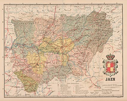 Amazon Com Old Spain Map Jaen Martin 1911 28 90 X 23 Matte