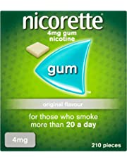 Nicorette Original Chewing Gum, 4 mg, 210 Pieces (Stop Smoking Aid) - Packaging may Vary