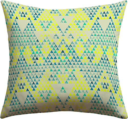 Deny Designs Pattern State Triangle Marine Outdoor Throw Pillow, 16 x 16