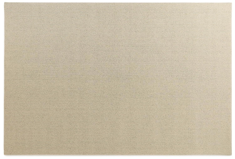 オーダーラグ ウール無地 ベージュ 幅225cm 長さ110cm アレルブロック 防炎 B01J33R80Y  110 センチメートル