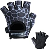 Contraband Pink Label 5297 Womens Design Series Leopard Print Lifting Gloves (PAIR)