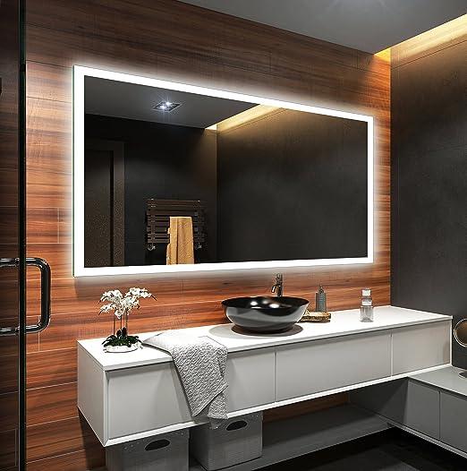 6 opinioni per Controluce LED specchio su misura illuminazione sala da bagno