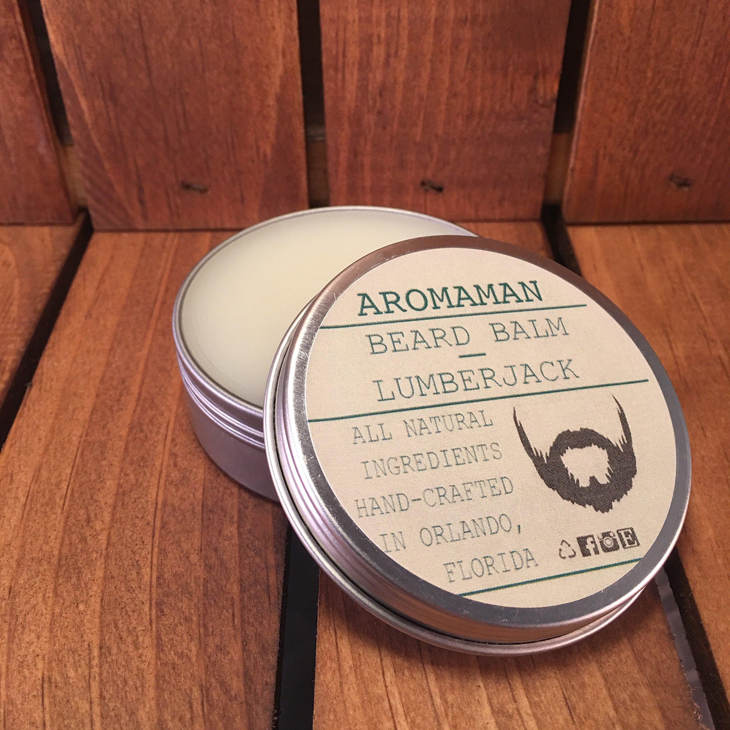 Aromaman All-Natural Homemade Beard Balms. Choose a Blend. 2 oz Tin.