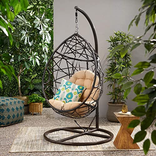 Christopher Knight Home CKH Wicker Tear Drop Hanging Chair