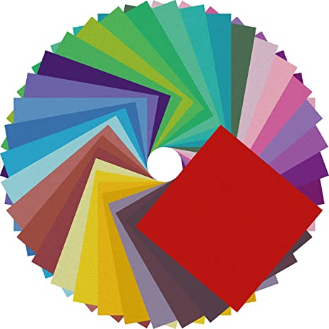 Amazon Com Origami Paper Double Sided Color 200 Sheets 20