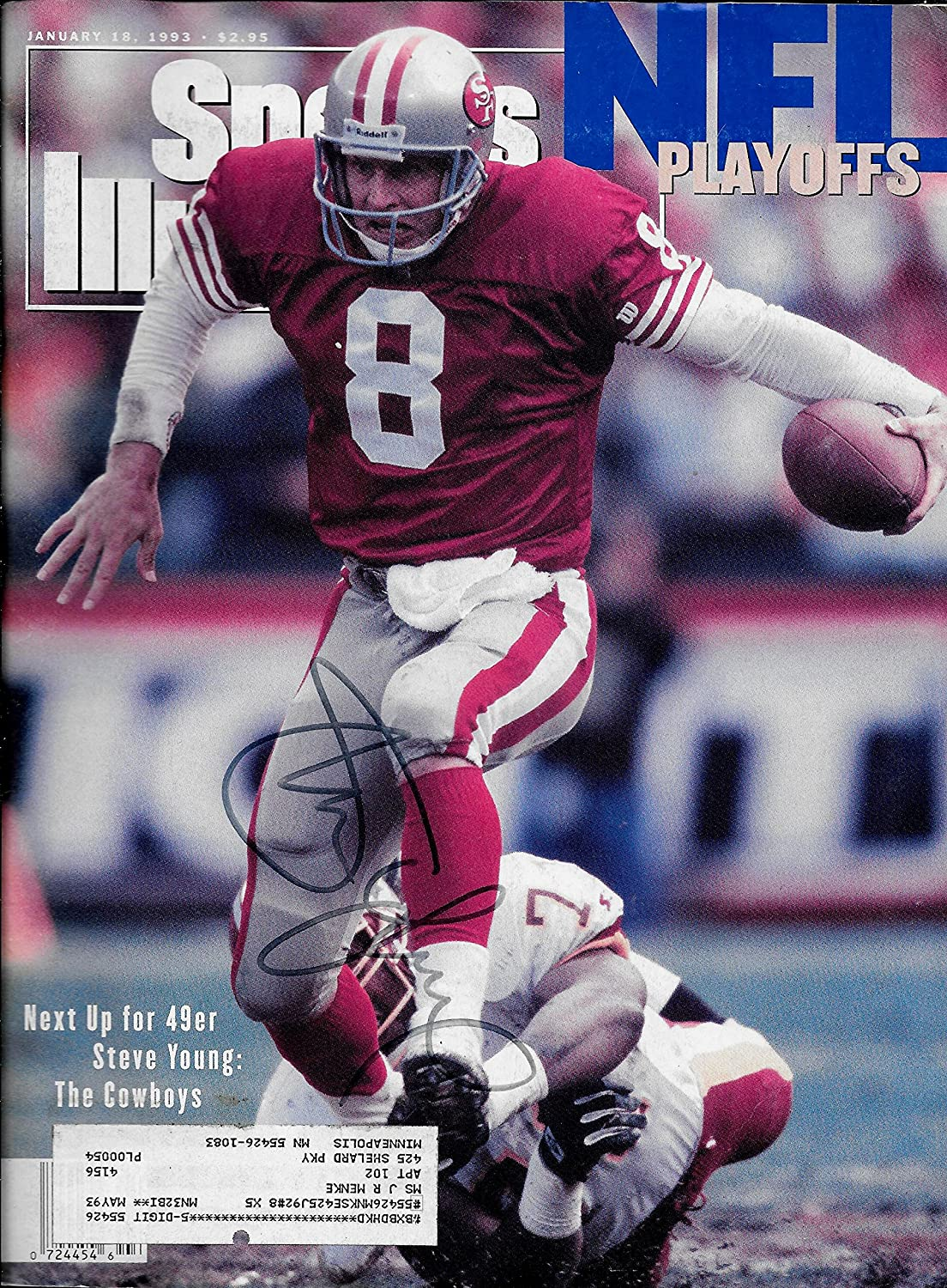 74edde0b9 Steve Young signed autographed Sports Illustrated San Francisco 49ers COA  at Amazon s Sports Collectibles Store