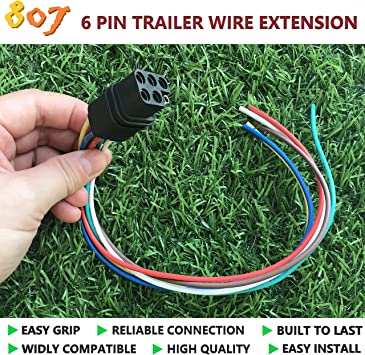 Easy to Install 4333198439 for Tow Dolly//Trailer Saves Time and Money ABN 7 Way Round to 5 Way Pin Flat Trailer Connector
