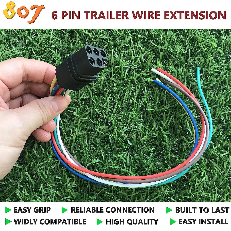 Amazon.com: BBTree 807 Square 6-Way Trailer Wiring Harness ... on