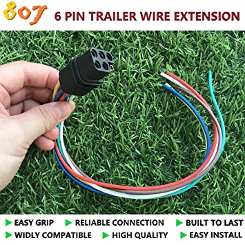 Amazon Com Bbtree 807 Square 6 Way Trailer Wiring Harness