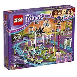 Best LEGO Friends 41130 Amusement Park Roller Coaster Building Kit sets for girls